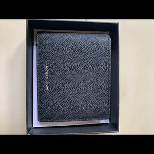 Michael Kors Mens Leather Wallet Black Brand New!